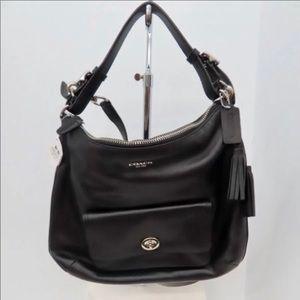 Coach Black Leather Shoulder Crossbody Bag